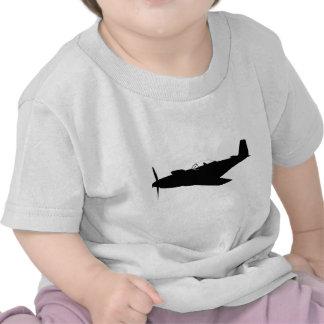 Silueta del mustango P-51 Camiseta
