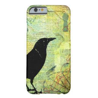 Silueta del ojo de la cerradura del cuervo funda de iPhone 6 barely there