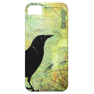 Silueta del ojo de la cerradura del cuervo iPhone 5 funda