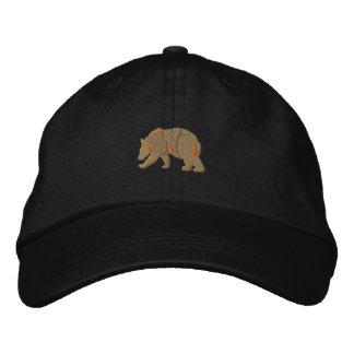 Silueta del oso gorra de béisbol bordada
