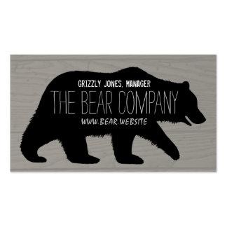 Silueta del oso grizzly tarjetas de visita