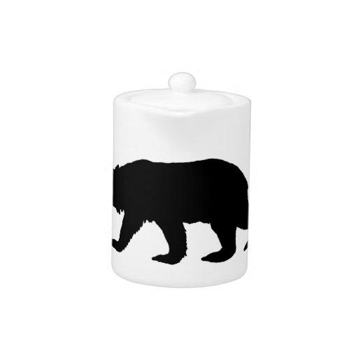 Silueta del oso negro