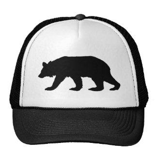 Silueta del oso negro gorro de camionero