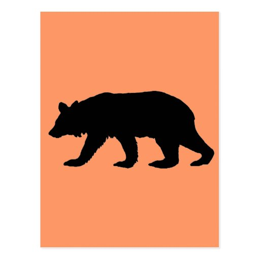 Silueta del oso negro postales