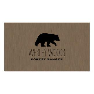 Silueta del oso negro tarjetas de visita