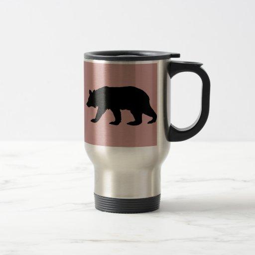 Silueta del oso negro taza de café