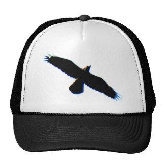 Silueta del pájaro de vuelo gorras de camionero