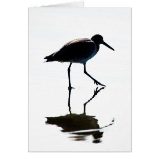 Silueta del pájaro tarjeta de felicitación
