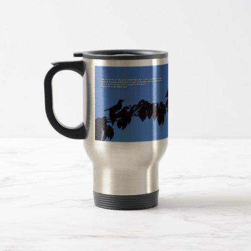 Silueta del pájaro tazas de café
