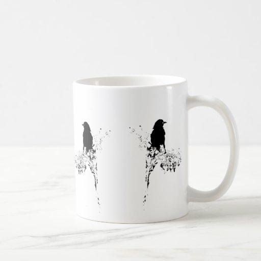 Silueta del pájaro taza de café
