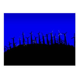 Silueta del parque eólico de Tehachapi (2) Postal