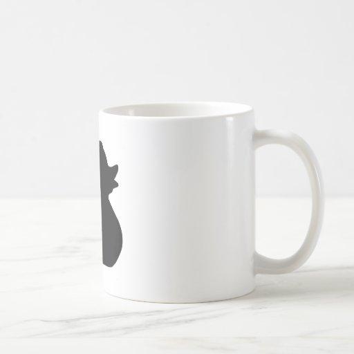 Silueta del pato taza básica blanca