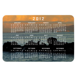Silueta del pelícano; Calendario 2012 Imán
