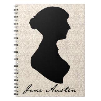 Silueta del perfil de Jane Austen Cuaderno