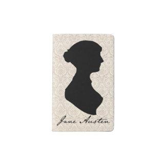 Silueta del perfil de Jane Austen Libreta De Bolsillo Moleskine