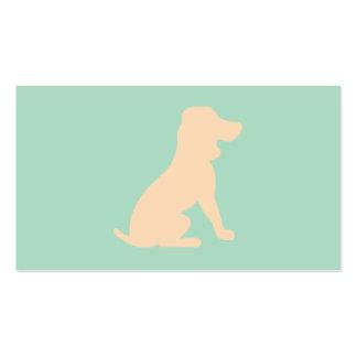 Silueta del perro de caza tarjetas de visita