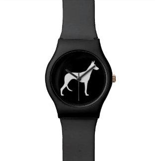 Silueta del perro de Ibizan Relojes De Mano