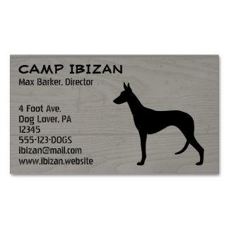 Silueta del perro de Ibizan Tarjetas De Visita Magnéticas (paquete De 25)