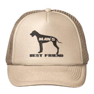 Silueta del perro de la diversión del mejor amigo gorras de camionero