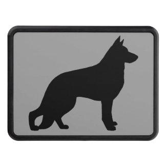 Silueta del perro de pastor alemán tapas de tráiler