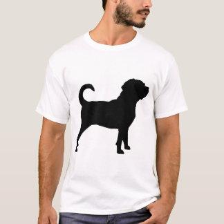 Silueta del perro de Puggle Playera