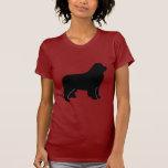 Silueta del perro de Terranova Camisetas