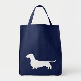 Silueta del perro del Dachshund Bolsa Tela Para La Compra