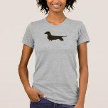 Silueta del perro del Dachshund Camiseta