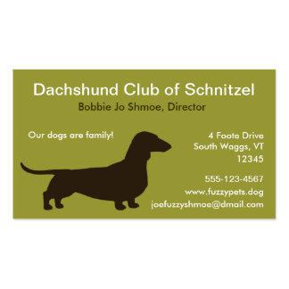 Silueta del perro del Dachshund Tarjetas De Visita