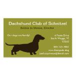Silueta del perro del Dachshund Tarjeta De Visita