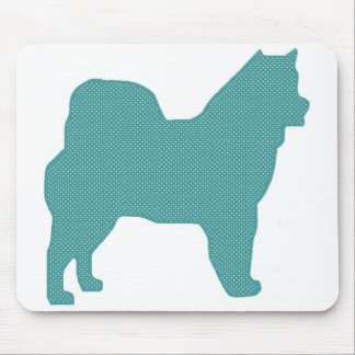 Silueta del perro del lunar del Malamute de Alaska Tapete De Raton