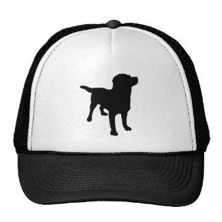 Silueta del perro gorra