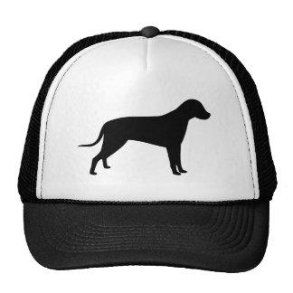 Silueta del perro gorras