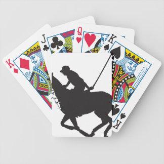 Silueta del potro de polo cartas de juego