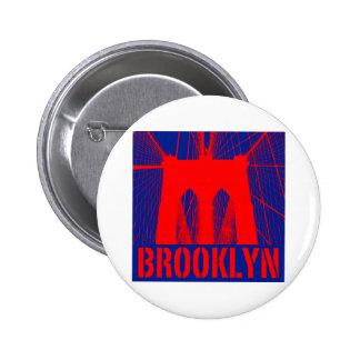 Silueta del puente de Brooklyn Pins
