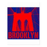 Silueta del puente de Brooklyn Postales