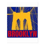 Silueta del puente de Brooklyn Tarjetas Postales