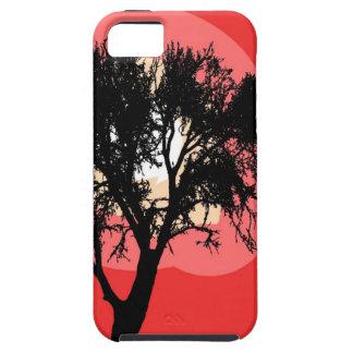 Silueta del Puesta del sol-Árbol Funda Para iPhone SE/5/5s