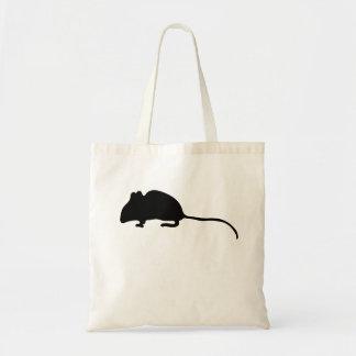 Silueta del ratón bolsas de mano