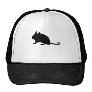 Silueta del ratón gorras de camionero