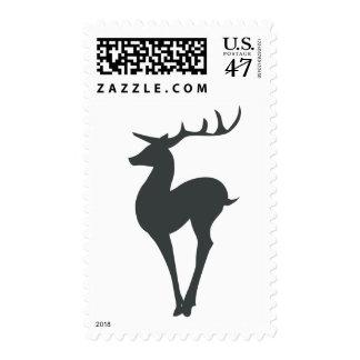 Silueta del reno sello
