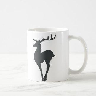 Silueta del reno taza clásica