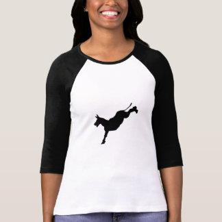 Silueta del retroceso del burro camisetas