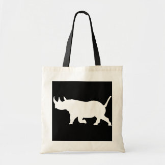 Silueta del rinoceronte, revestimiento izquierdo,  bolsa lienzo