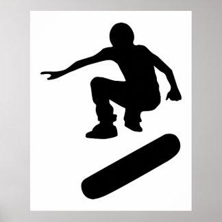 silueta del skater poster