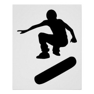 silueta del skater póster
