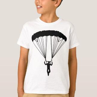 silueta del skydiver camisas