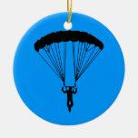 silueta del skydiver ornamento de navidad