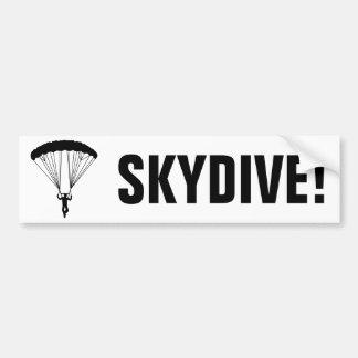 silueta del skydiver pegatina para auto