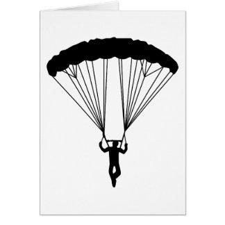 silueta del skydiver tarjetas